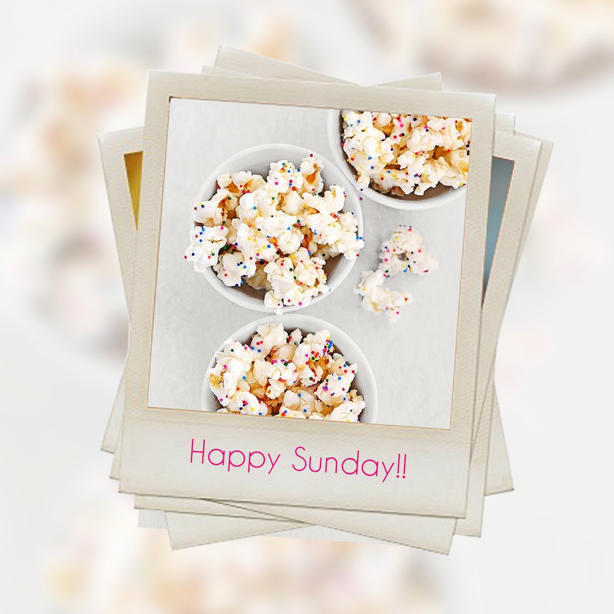 Happy sunday, Happy, sunday , Pop corn, palomitas, finde, weekend, fin de semana, La Musa, La Musa Decoración