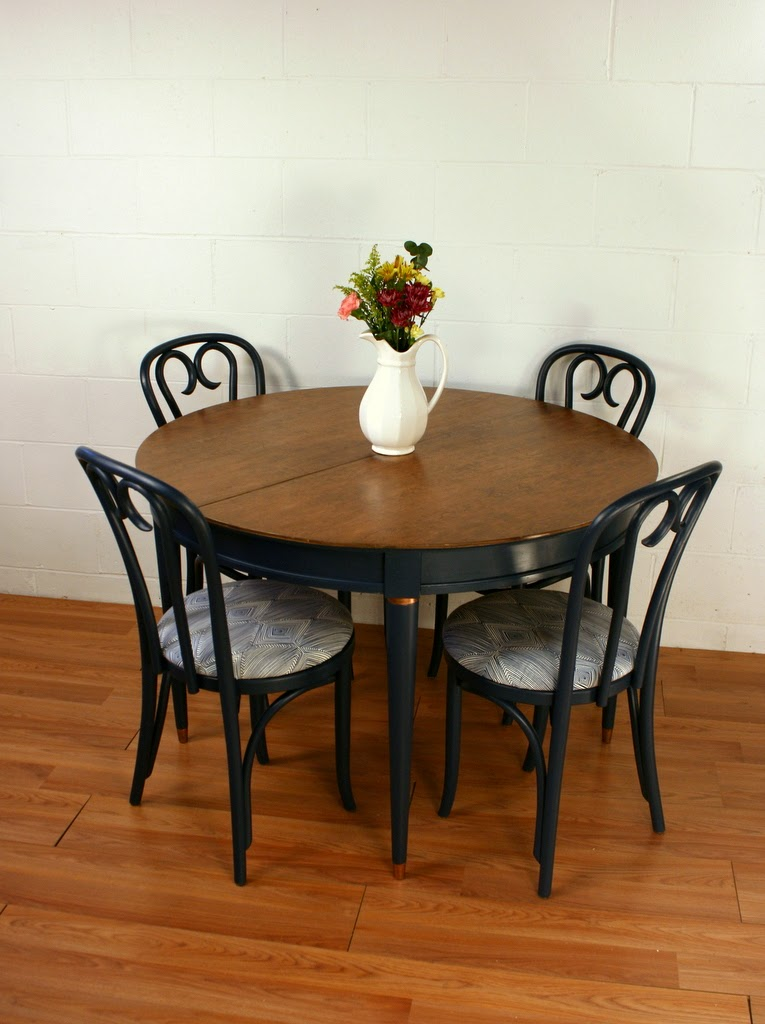 roots and wings furniture blog no 118 navy blue dining table chairs. Black Bedroom Furniture Sets. Home Design Ideas