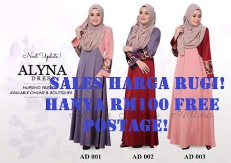 Koleksi Terbaru Paling Menawan Dress Alyna by Allana Sangat Mempesonakan