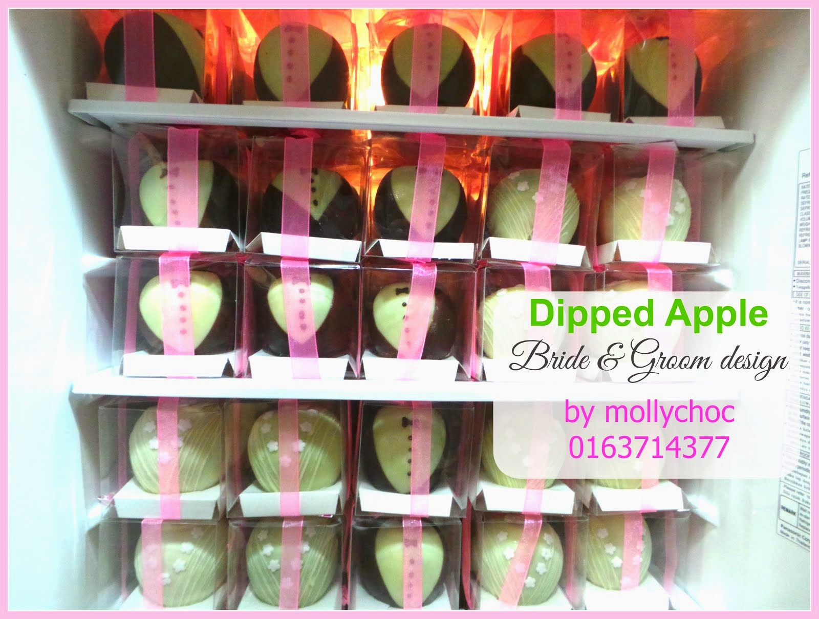 Dipped Apple - Bride & Groom