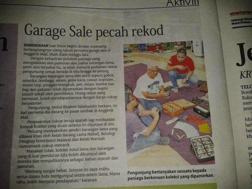 Lets join our Garage Sale we generate RM