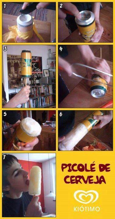 Picole de cerveja