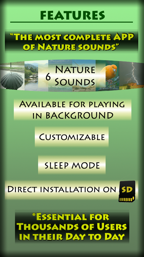 features nature relax music