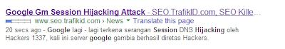 Cara Cepat Postingan Terindex Google