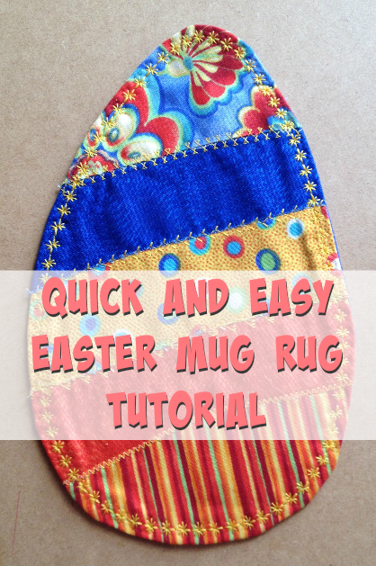 Quick and Easy Easter Mug Rug Tutorial