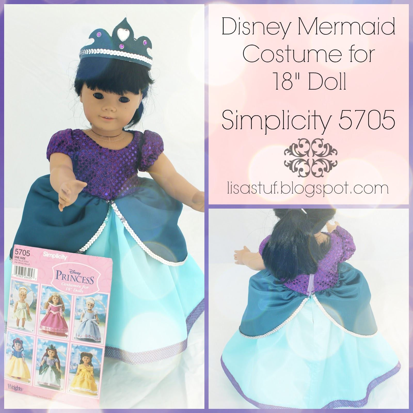Stuff-n-Such By Lisa Disney Little Mermaid Princess Outfit for 18  Dolls - Simplicity 5705  sc 1 st  Stuff-n-Such By Lisa & Stuff-n-Such By Lisa: Disney Little Mermaid Princess Outfit for 18 ...