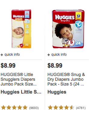 target shoppers great price for huggies diapers and wipes