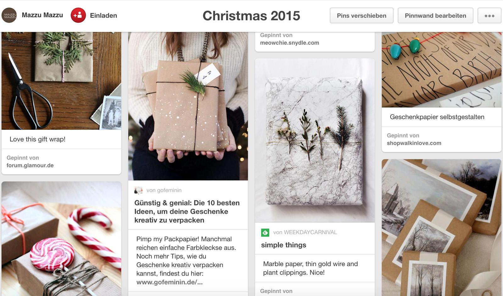 Mazzu mazzu mag pinterest kreative verpackungsideen zu for Pinterest weihnachten