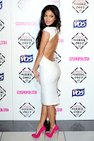 Nicole Scherzinger hot body in a tight white dress