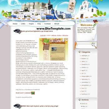 Core of Greece blogger template