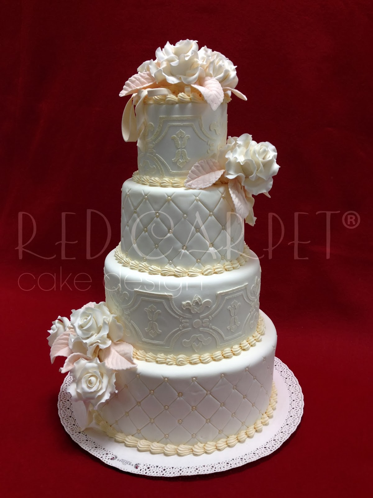 SHABBY CHIC WEDDING CAKE by RED CARPET CAKE DESIGN® | Red Carpet ...