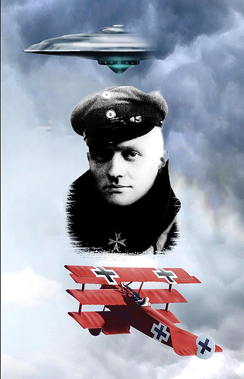 Red Baron Shot Down 'Flying Saucer' Over the Trenches
