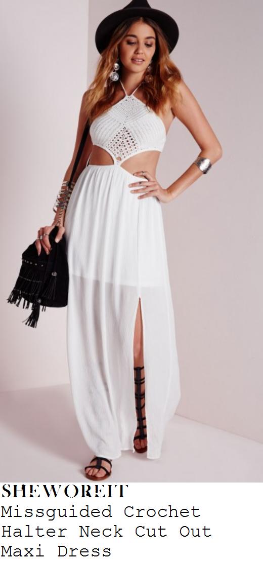 sam-faiers-white-crochet-halterneck-cut-out-maxi-dress