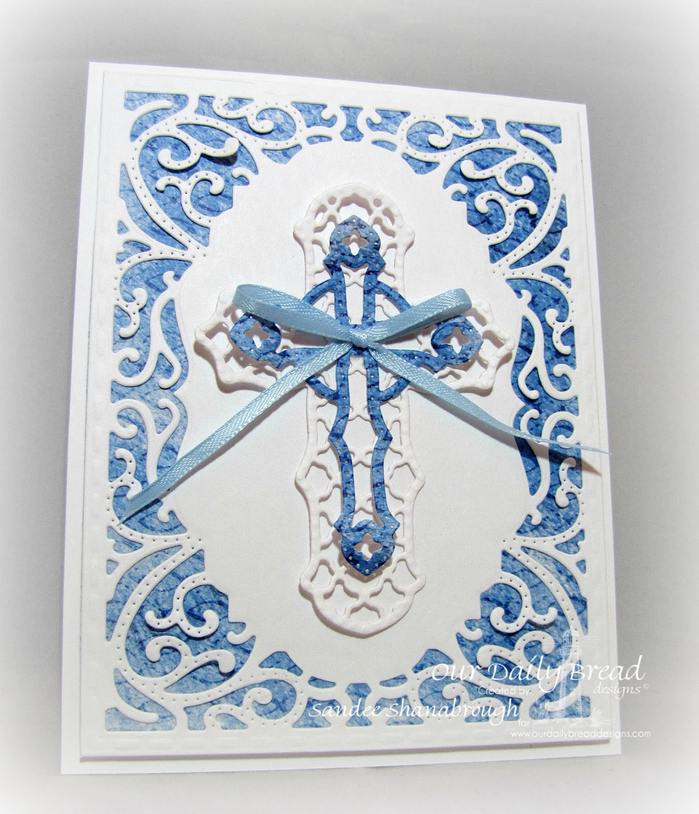 Our Daily Bread Designs Custom Vintage Flourish Pattern Die, ODBD Custom Ornamental Crosses Die, ODBD Christian Faith Paper Collection