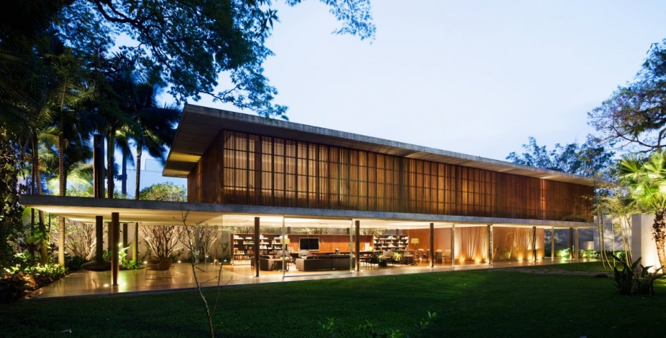 Architects Marcio Kogan And Diana Radomysler Of Studio Mk27 Have Completed  The Toblerone House In São Paulo, Brazil.