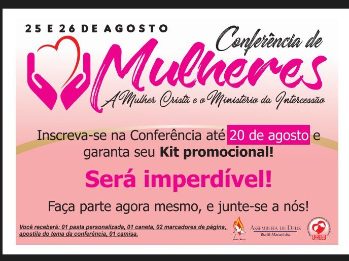 Conferência de Mulheres da Assembleia de Deus em Buriti-MA