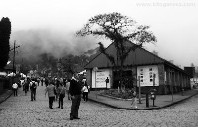 Antigo Mercado de Paranapiacaba no inverno