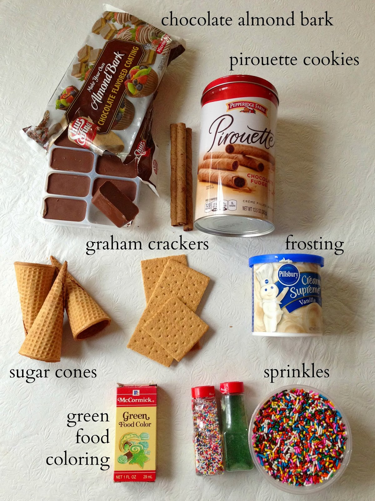 Whimsy love diy cone cookie tree if youre doing this with kids you might want to stick the cookie to the graham cracker on your own ahead of time the chocolate takes about 20 30 minutes solutioingenieria Gallery
