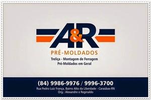 A&R - Pré-moldados - Tudo para a construção de sua casa