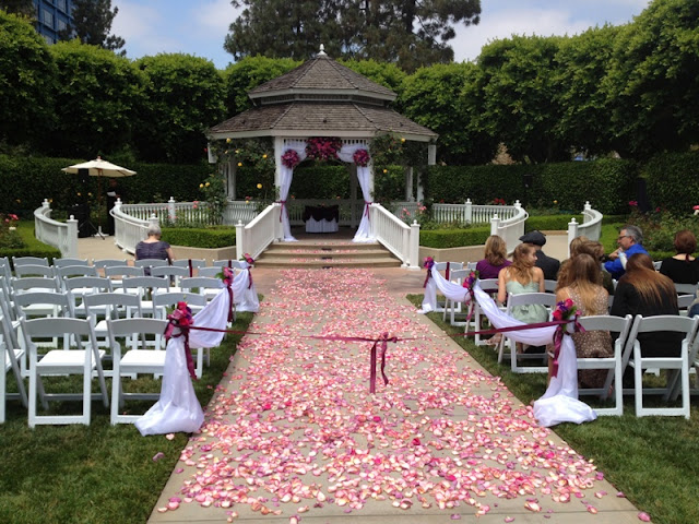 Disneyland Wedding - Rose Court Garden Gazebo