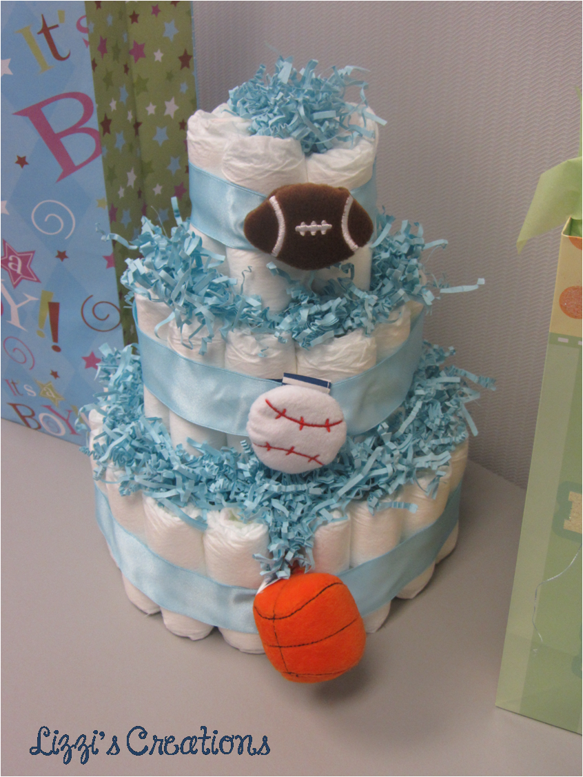 lizzi's creations how to make a diaper cake, Baby shower