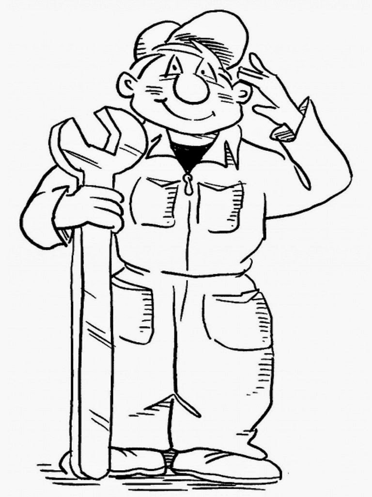 mechanic tools coloring pages