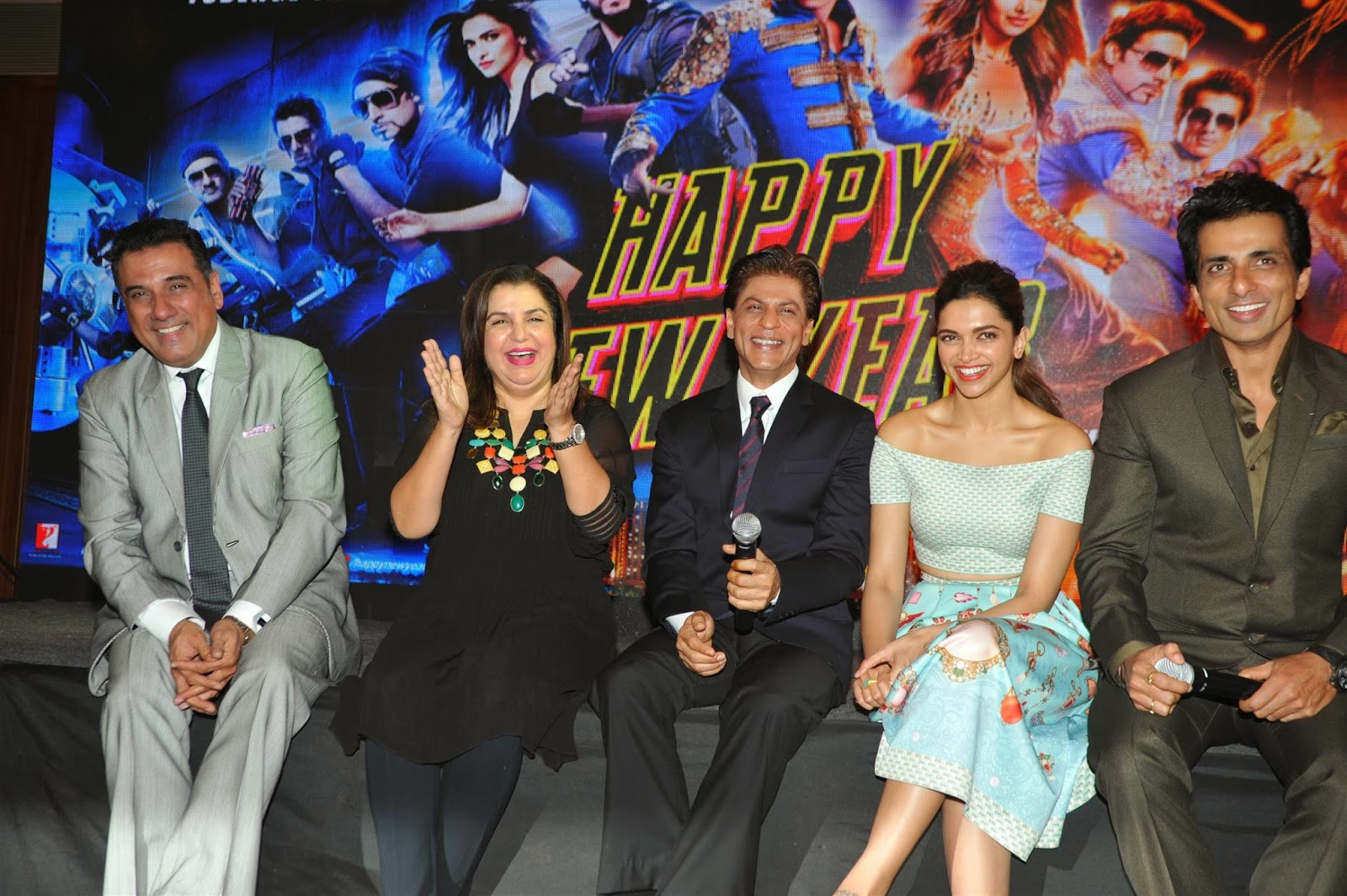 Deepika Padukone at Sharabi music video Launch in Mumbai from movie Happy new Year With Sharukh Khan