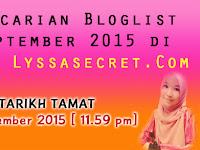 Pencarian Bloglist September 2015 di Blog Lyssasecret.Com