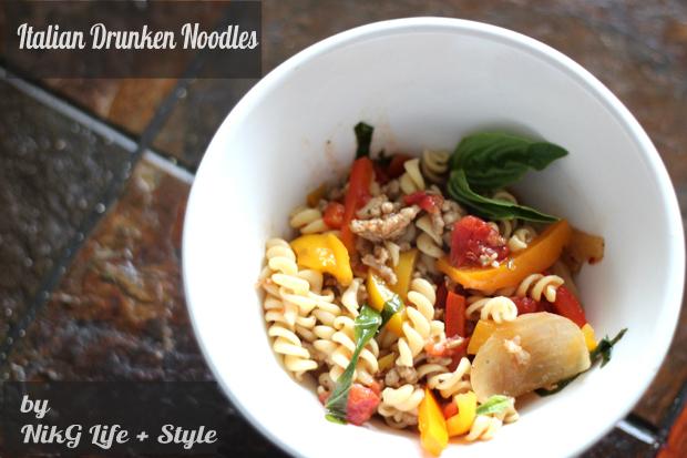 Italian drunken noodles pinterest