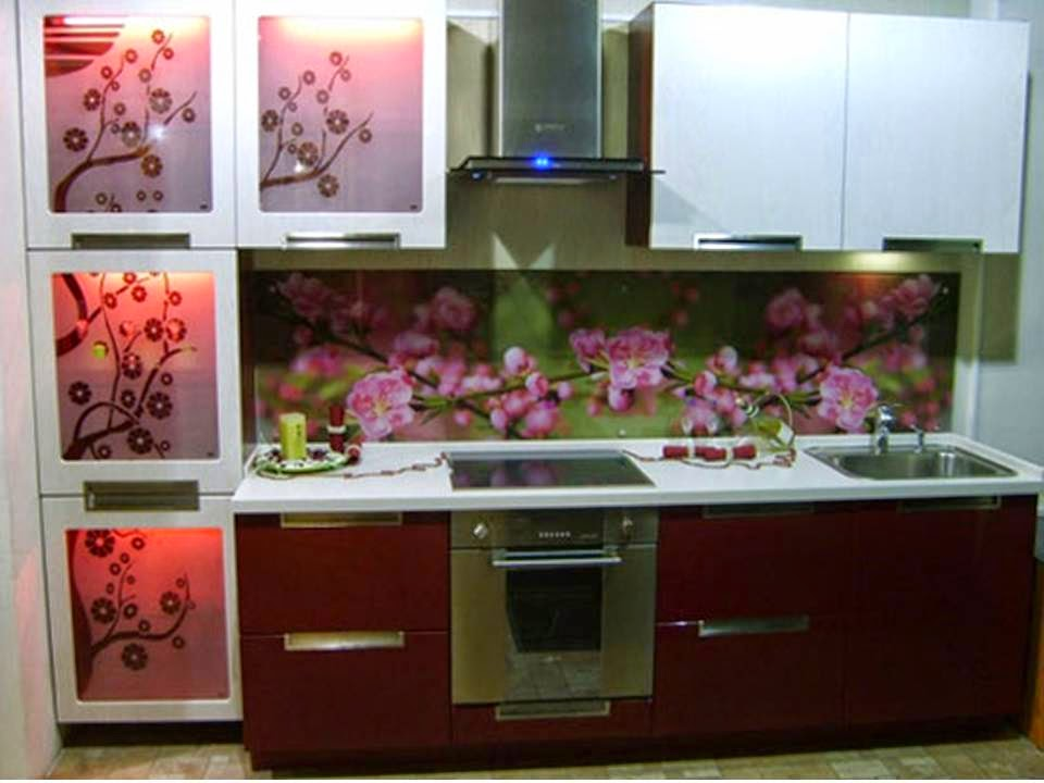 Home decor stunning kitchen cabinets with beautiful flowers for Kitchen cabinets lowes with wall art flower designs