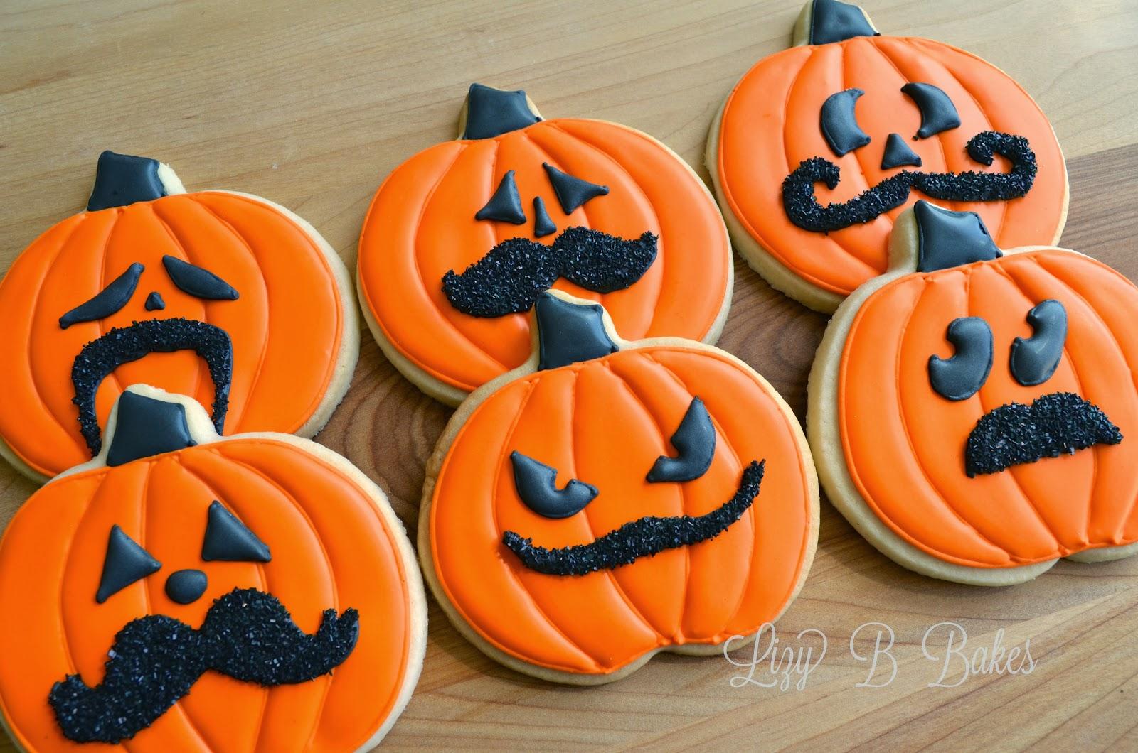 Lizy B: Halloween Mustache Cookies!