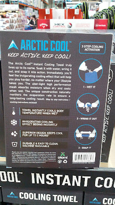 Arctic Cool Instant Cooling Towel to lower core body temperature