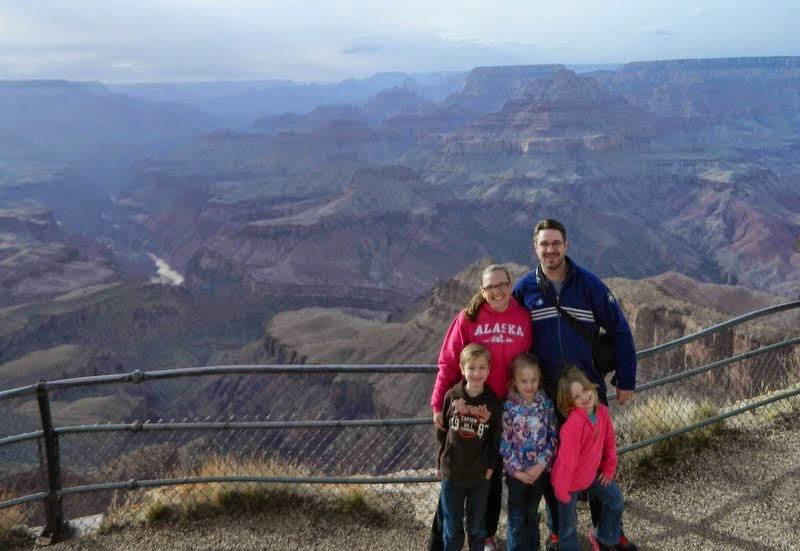 The Ziebarth's at the Grand Canyon