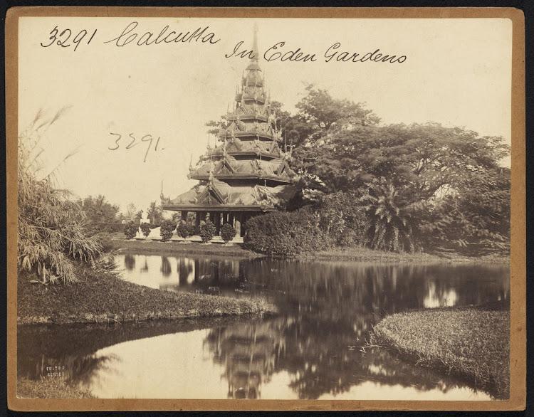 Pagoda in Eden Gardens Calcutta (Kolkata)