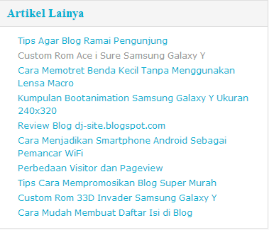 Cara membuat widget random post