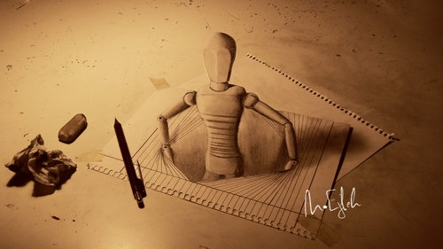 02-2D-Isnt-Enough-Muhammad-Ejleh-2D-Like-3D-Drawings
