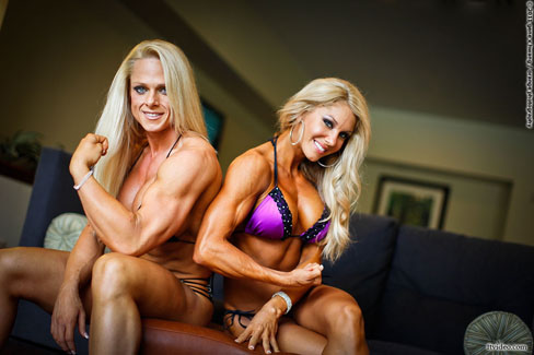Andrea Trent And Sherrie Carnicle Female Muscle Bodybuilding Fitness Blog Figure FTVideo