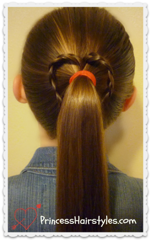 easy braided heart hairstyle tutorial