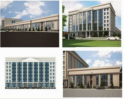 Exterior design of public buildings sample