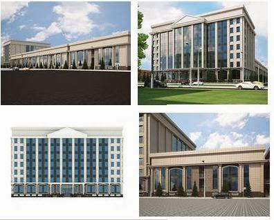 Exterior design of public buildings sample