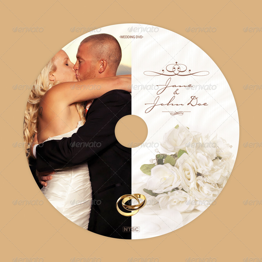 Classy wedding dvd cover psd template psd stuff 2 disc label styles included well documented help file font info and tips please note this is not a dvd mockup pronofoot35fo Choice Image