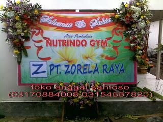 bunga papan ucapan banner untuk peresmian kantor
