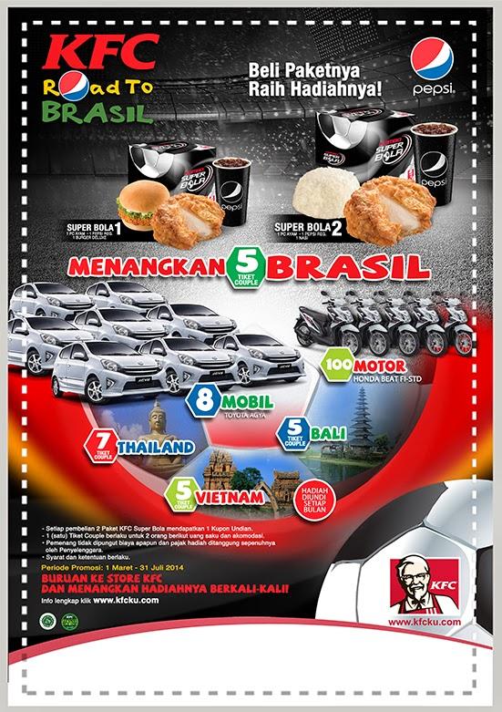 promo kfc super bola ke Brazil