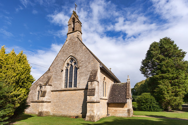 The church of St Peter's in the Cotswold village of Filkins by Martyn Ferry Photography