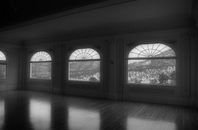 The ballroom of the Stanley Hotel is thought to be haunted by the spirit of Flora Stanley who like to play the piano.  You can still hear her tunes echoing through the halls of the Stanley Hotel to this day.
