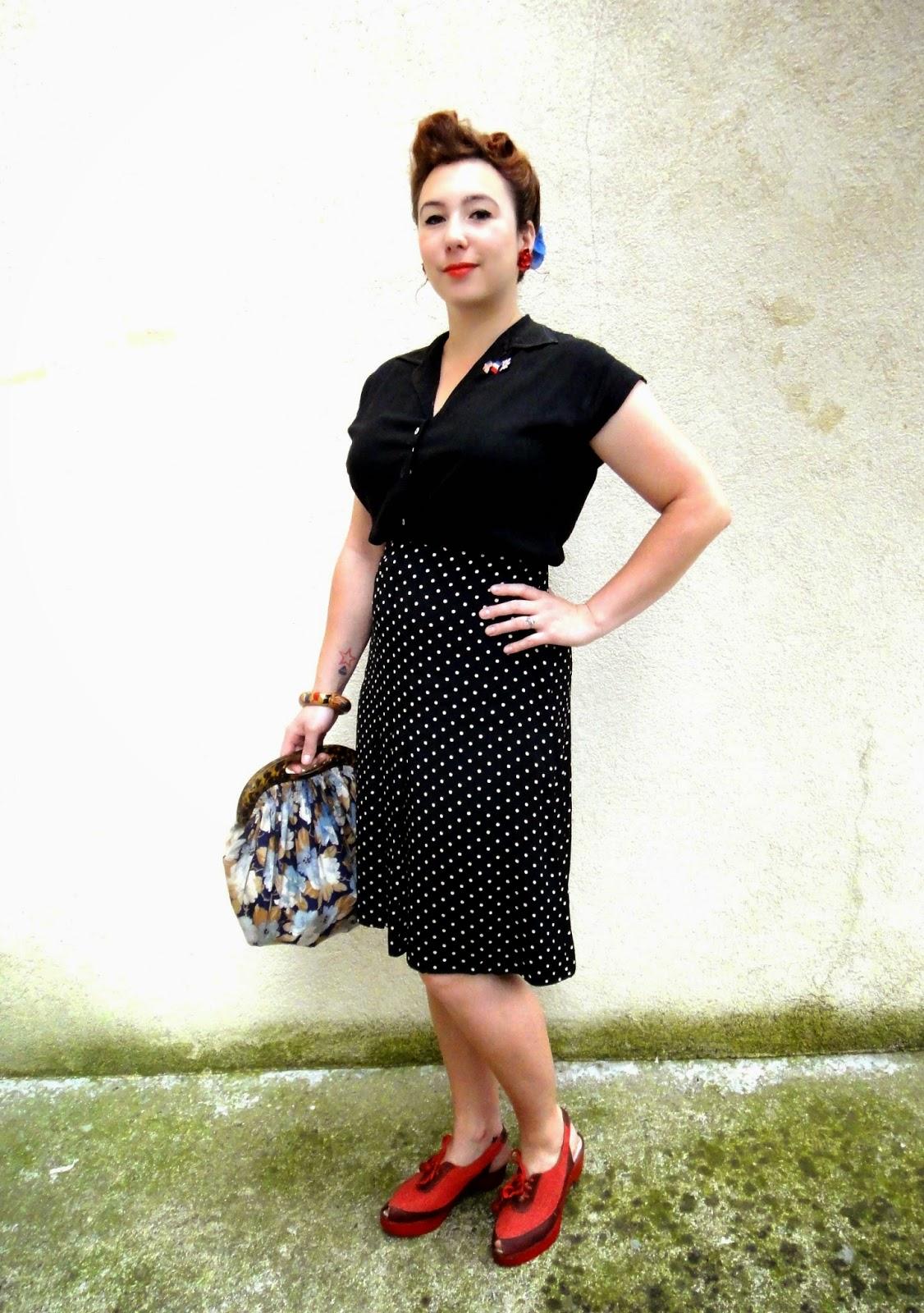 Tutti frutti vintage look du jour ou un pas dans les ann es 40 - Style annee 40 ...