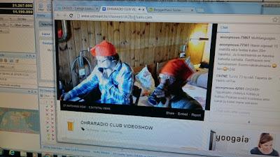 Niko Oh2LZC ja Heikki OH6HDY Liechtensteinissa HB0-maassa pitämässä peditiota