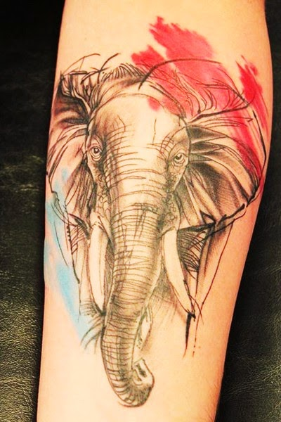 Elegant Elephant Tattoos for Girl