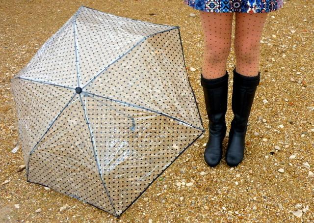 lunares paraguas medias