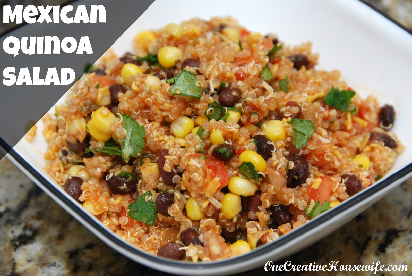 One Creative Housewife: Mexican Quinoa Salad